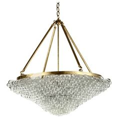 Large Blown Glass Beaded Chandelier  Contemporary, Traditional, Transitional, Glass, Metal, Chandelier by Paul Marra Design