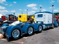 Tricked Out Semi Trucks   Retro Rides - Love for Largecars
