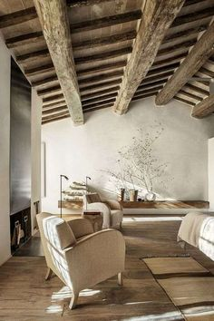 Crumbling buildings have been transformed into the boutique Monteverdi Hotel in Tuscany, which includes rustic bedroom suites and a cavernous spa. Interior Architecture, Interior And Exterior, Interior Design, Room Interior, Design Interiors, Hotels In Tuscany, Tuscany Italy, Design Toscano, Sweet Home