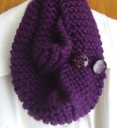 Free knitting pattern: Thick 'n Quick Infinity Scarf