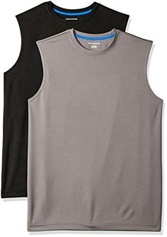 """Amazon has the Amazon Essentials Men's 2-Pack Performance Tech Muscle Tank, Black/Dark Grey, X-Small marked down from $18.90 to $13.20. That is 30% off retail price! TO GET THIS DEAL: GO HERE to go to the product page and click on """"Add to Cart"""" Final price = $13.20 Shipping is free on any purchase with… Best Tank Tops, Gym Tank Tops, Amazon Essentials, Mens Essentials, American Apparel, Superhero Dress, Adidas Tank Top, Muscle Tanks, Workout Wear"""