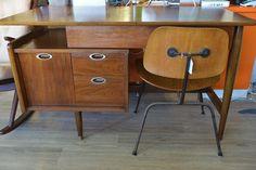 Mid Century Vintage Floating Top Desk by Hooker