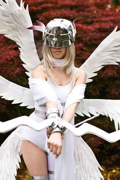 Angewomon my all-time favorite Digimon. Absolutely adore this cosplay! Digimon Cosplay, Cosplay Anime, Epic Cosplay, Amazing Cosplay, Cosplay Girls, Female Cosplay, Cool Costumes, Cosplay Costumes, Gatomon