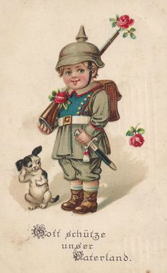WWI German patriotic postcard
