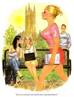 Orignnal Playboy Cartoon art created by Doug Sneyd Sneyd Syndicate