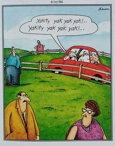 Far Side Cartoons, Funny Cartoons, The Far Side, Good Humor, Peanuts Comics, Lol, Humor, Humour, Cute Cartoon