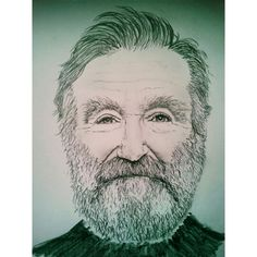 My Robin Williams drawing. Genie, you're free.