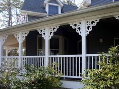 Porch brackets - Traditional - Exterior - Other Metro - Durabrac Architectural Components House Yard, House With Porch, Corbels Exterior, Design Your Home, House Design, Front Porch Design, Porch Designs, Farmers Porch, Porch Brackets