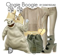 """""""Mr. Oogie Boogie"""" by leslieakay ❤ liked on Polyvore featuring Liz Claiborne, Hudson, Alexis Bittar, MANGO, Marc by Marc Jacobs, disney, disneybound and disneycharacter"""