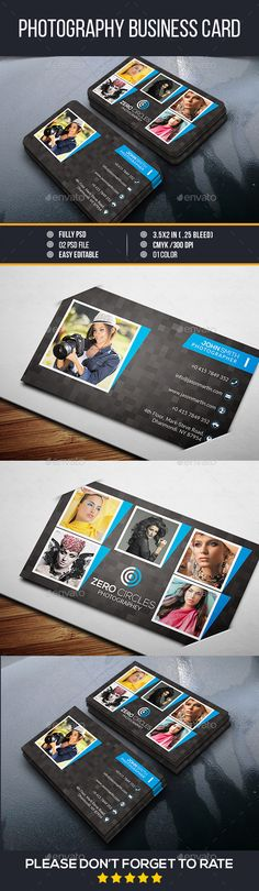 Modern Photography Business Card - Creative Business Cards Download here : http://graphicriver.net/item/modern-photography-business-card/12862368?s_rank=1684&ref=Al-fatih