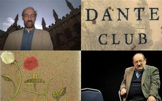 Clockwise from left: Iain Pears; cover of the Dante Club; Umberto Eco; The Name of the Rose