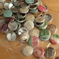 postage stamp buttons