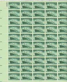 U.S. Merchant Marine Sheet of 50 x 3 Cent US Postage Stamps NEW Scot 939 . $19.99. U.S. Merchant Marine Sheet of 50 x 3 Cent US Postage Stamps NEW Scot 939