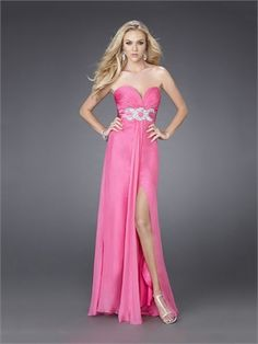 Sweetheart Neckline Beaded Empire Waist Chiffon Floor Length Prom Dress PD10914 www.dresseshouse.co.uk $106.0000