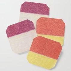 Tulips - Color Blocks Color Palette No 3 Coaster