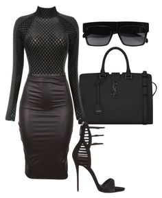 """Untitled #380"" by milly-oro on Polyvore featuring Yves Saint Laurent, Giuseppe Zanotti and CÉLINE"