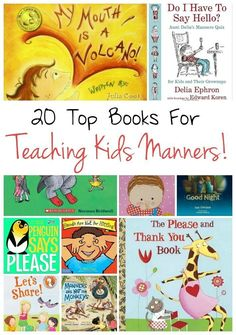 Kids Manners Check out these 20 books that will make teaching kids manners easy!Check out these 20 books that will make teaching kids manners easy! Manners Preschool, Teaching Kids Manners, Manners For Kids, Preschool Books, Preschool Activities, Teaching Kids Respect, Manners Activities, Character Education, Kids Education