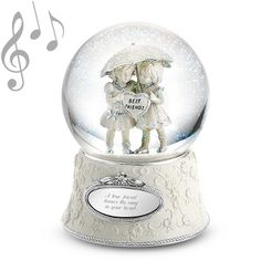Personalized Best Friends Forever Musical Water Globe , Add Your Message