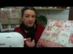 Patchwork Ao Vivo #19: almofada de patchwork em estilo cottage - YouTube