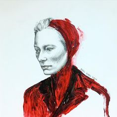 red Tilda #fashionillustration #tildaswinton#face #fashion #fashionsketch #fashiondrawing #instaart #imperfect #inspiration #illustration #pencil #painting ##drawing #texture #tildaswinton #art #acrylic #artgram #artwork #artoftheday #skin #model#karnkarnillustration #絵#イラスト#ファッションイラスト