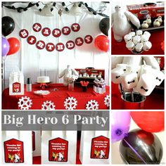 Big Hero 6 Baymax party with lots of DIY touches! 6th Birthday Parties, Boy Birthday, Birthday Ideas, Birthday Cakes, Baymax, Diy Party, Party Gifts, Big Hero 6 Party Ideas, Big Heroes
