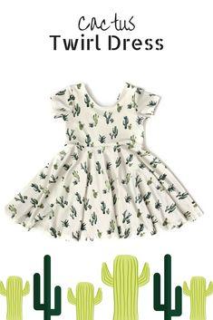 dca9bb6c7ca829 Summer Twirl Dress / Cactus Dress / Succulent Twirl Dress / Toddler Twirl  Dress / Girl Twirl Dress / Sundress / Birthday Dress / baby / etsy /  fashion / ...