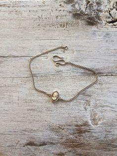 Sterling silver cameo bracelet