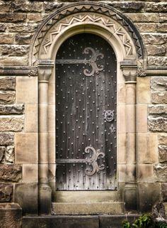 Church door. Northallerton. Yorkshire.