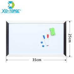 XINDI MDF Black & White Frame Wooden Drawing Magnetic Whiteboard 25*35cm Dry Erase Notice Boards For the Home With Erasers WB07