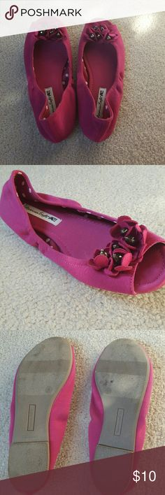 Fuschia Open Toe Shoes I think that we picked these out when we were younger excited for the days that our feet would be big enough to fit them, but unfortunately at this point they are not my or my sister's style. Hoping that they can be loved somewhere else! American Eagle By Payless Shoes Flats & Loafers