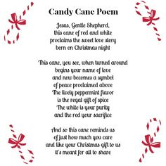 7 Best Images of Jesus Candy Cane Poem Printable - Christmas Candy Cane Poem Printable, Christmas Candy Cane Poem Printable and Christmas Candy Cane Poem Primary Christmas Gifts, Christmas Poems, Christmas Night, Christmas Makes, Christmas Activities, Christmas Printables, Christmas Candy, Kids Christmas, Christmas Crafts