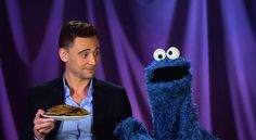 Tom Hiddleston, Cookie Monster, cookies... PBS knows the way to my heart. (Video) SO FREAKIN CUTE!!!