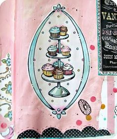 happy little tiered cupcakes art journal sticker by Everyday is a Holiday