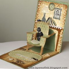 Reading Chair Pop-Up Tutorial - Layers of ink