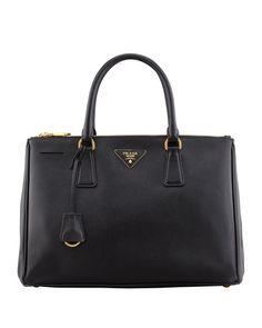 b04e50c50d80 Prada Saffiano Leather Tote Prada Bag Black