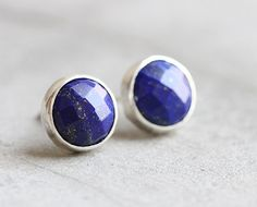 Hey, I found this really awesome Etsy listing at https://www.etsy.com/listing/79725475/lapis-lazuli-stud-earrings-lapis