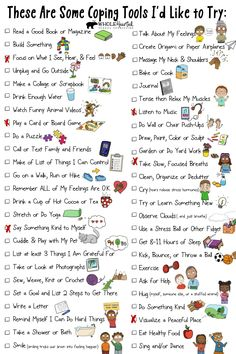 50 Coping Skills for Kids Checklist Included in Stress & Anxiety Management Toolkit for Home, School - Stress Management Counseling Activities, School Counseling, Therapy Activities, Elementary Counseling, Health Activities, Elementary Schools, Group Activities, Calming Activities, Leadership Activities