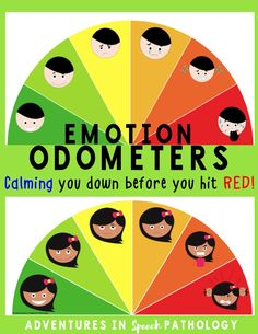 Support challenging behaviors and emotional regulation with these great visuals. Includes odometers, charts, word banks and strategy sheets. Identify the feeling so that you can pre-empt triggers and stop students before they reach boiling point. Helpful for autism and social communication disorders.