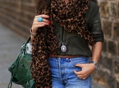I can never get enough of the leopard scarf