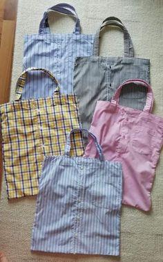 Ne kadar sade ve kullan? Sewing Tutorials, Sewing Hacks, Sewing Tips, Recycled Shirts, Old Shirts, Shirt Refashion, Bag Patterns To Sew, Fabric Bags, Handmade Bags