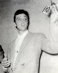 - Elvis backstage of the Shreveport Municipal