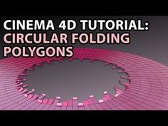 Tutorial by QuickVFX: Circular Folding Polygons Vfx Tutorial, Cinema 4d Tutorial, Digital Art Tutorial, Learn Animation, V Ray Materials, After Effect Tutorial, Cool Typography, Maxon Cinema 4d, Good Tutorials