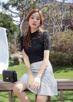 Korean Women`s Fashion Shopping Mall, Styleonme. Korean Girl Fashion, Korean Fashion Trends, Asian Fashion, Fashion Wear, Fashion Models, Fashion Outfits, Pretty Asian, Beautiful Asian Girls, Beautiful Girl Hd Wallpaper