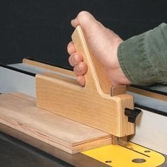 Table Saw Push Block with adjustable and replaceable shoe.