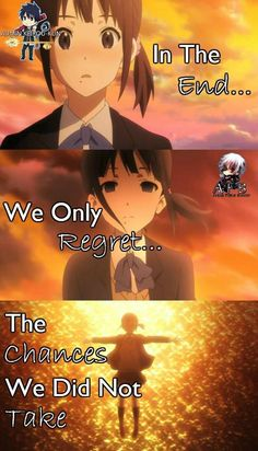 In the end, we regret the mistakes we did in the past... Anime: Kokoro Connect