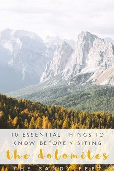 Essential Things To Know Before Visiting The Dolomites In Italy Dolomites Italy : Travel Tips And Essential Things To Know Before You Go Positano, Amalfi, Naples, Cool Places To Visit, Places To Go, Hiking Europe, Travel Europe, Italy History, Tips Fitness