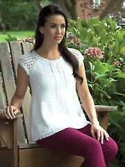 New Clothes Knitting Patterns - Women's Raglan Henley Knit Pattern