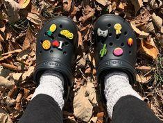 Crocs Classic Fuzz-Lined Clog - Black Crocs Sandals, Crocs Shoes, Shoes Sneakers, Cute Shoes, Me Too Shoes, Crocs Slippers, Lined Crocs, Crocs Fashion, The New Classic