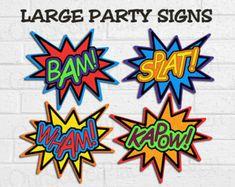 Super Hero Props | Super hero picture props printable free