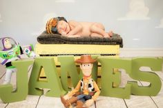 Disney toy story newborn session